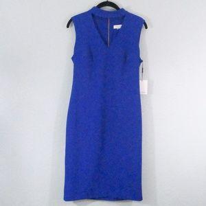 Calvin Klein Blue Back Zip Dress Size 8